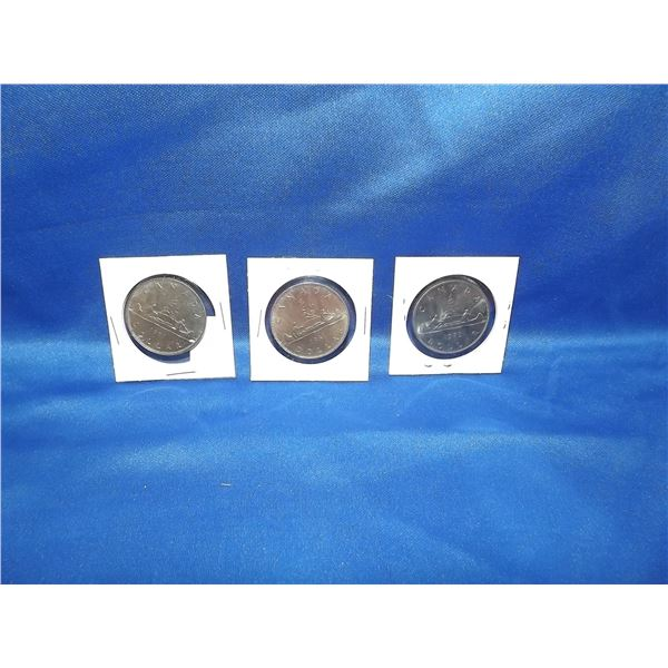 LOT OF 3- 1979 (1) 1981 (2) CNDN $1 COINS