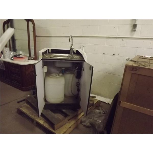 NEW SELF CONTAINED ELECTRIC SINK; HOT WATER ON DEMAND WITH