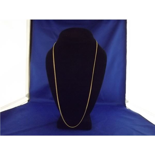 10KT YELLOW GOLD CURD LINK CHAIN- ARV $900.00; LENGTH 24.5 INCHES/