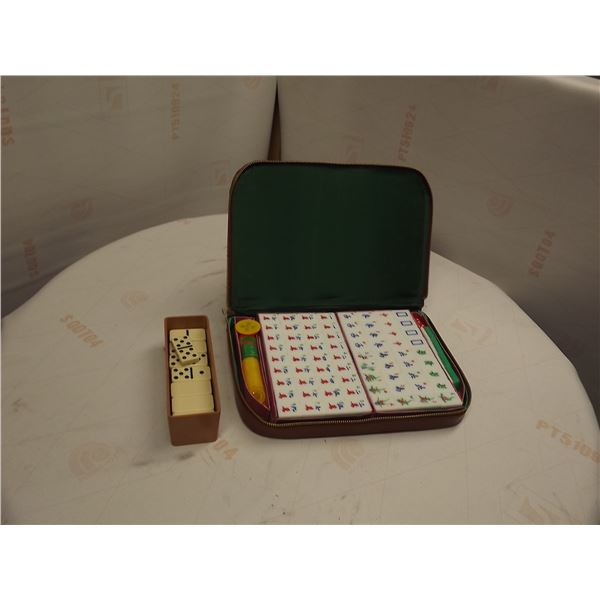 LOT OF CHINESE MAHJONG GAME & DOMINOS