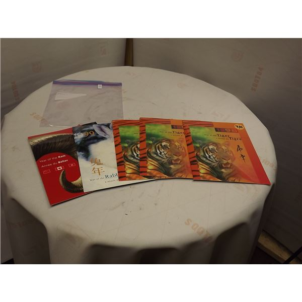 SET OF FIVE CHINESE YEAR OF STAMP BOOKLETS