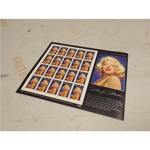 1995 32CENT MARILYN MONROE FULL SHEET OF 20 STAMPS