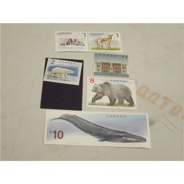 LOT OF 6 CANADIAN STAMPS