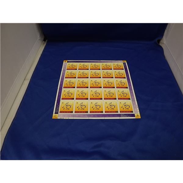LUNAR NEW YEAR  - CHINESE YEAR OF THE RABBIT SHEET OF STAMPS