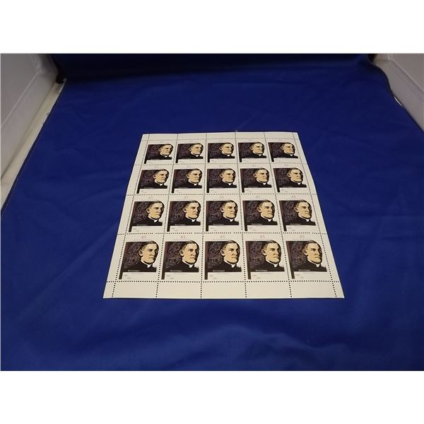 CHARLES EMILE GADBOIS MUSICOLOGIST SHEET OF 20 STAMPS