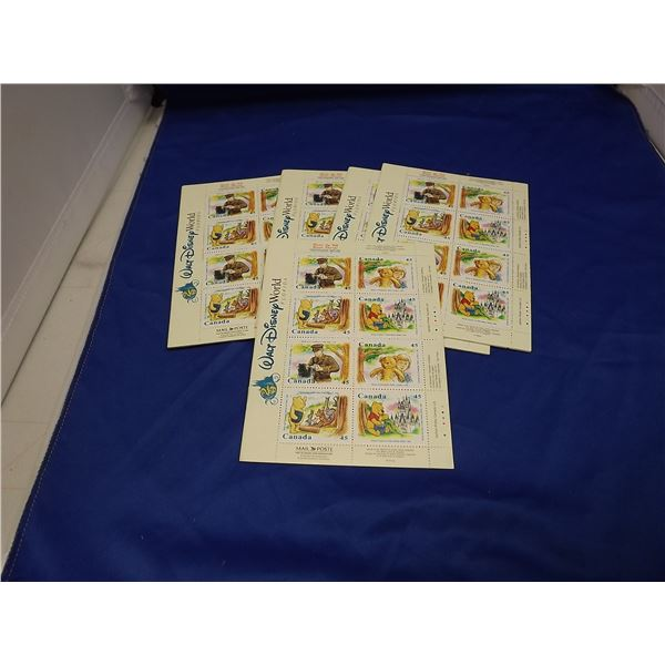 5 SETS OF DISNEY WORLD FLORIDA WINNIE THE POOH STAMP BOOKLET