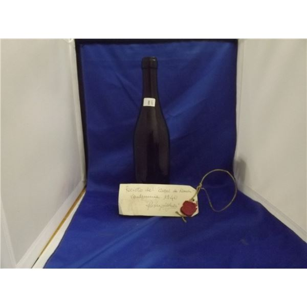 1 WINE BOTTLE 1940 WITH WAX SEAL