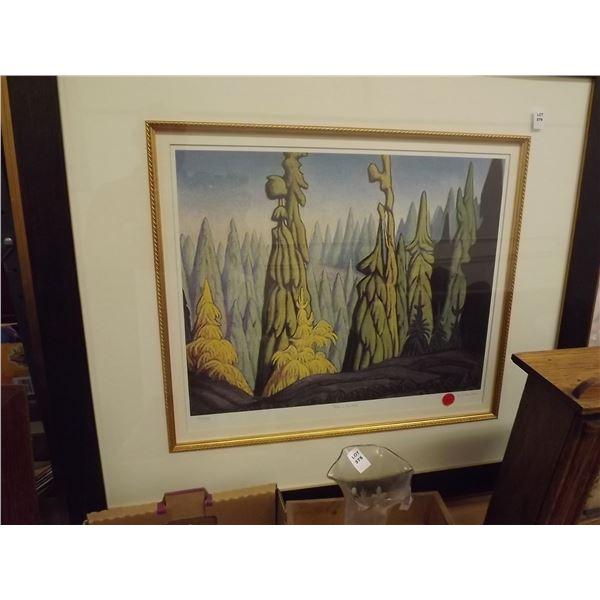 "PRINT OF LAWREN STEWART HARRIS "" TREE'S OF THE NORTH"