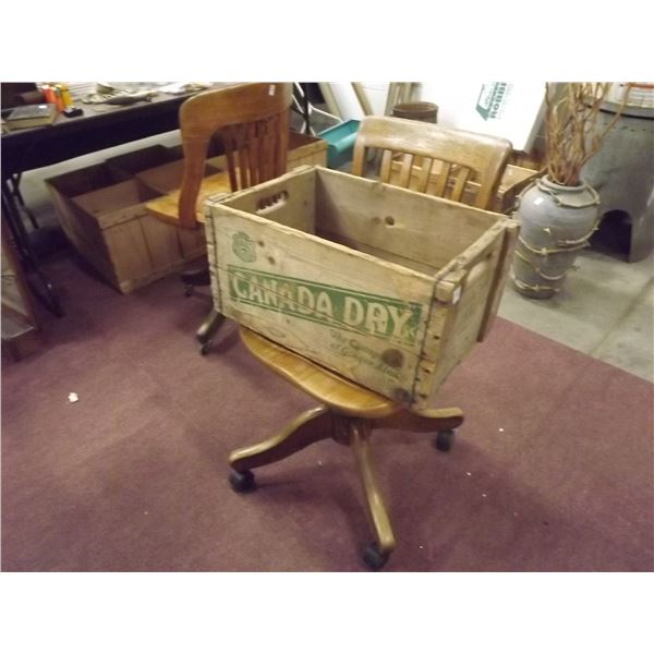 1 WOODEN CRATE CANADA DRY