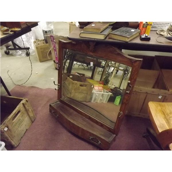 1 ANTIQUE MIRROR AND STAND