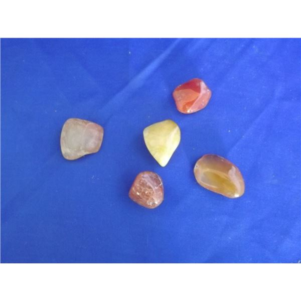 POLISHED   STONES LOT OF 5