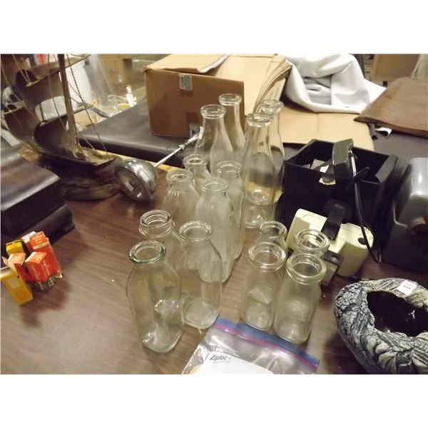 1 LARGE LOT OF CREAM AND MILK BOTTLE