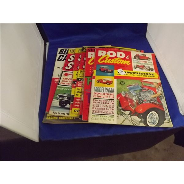 VARIOUS HOT ROD MAGAZINES 1950'S AND 1960'S LOT OF 8