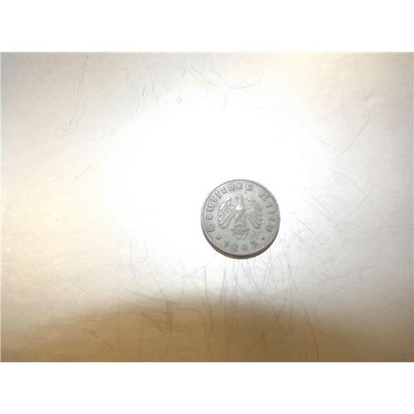 1943 GERMAN 10 MARK 3RD REICH COIN