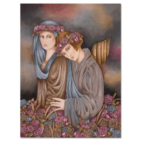 """Haya Ran, """"Rose Garden Dream"""" Hand Signed Limited Edition Serigraph with Letter"""
