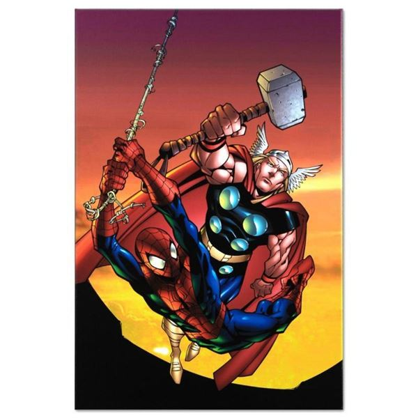 """Marvel Comics """"Marvel Age Spider-Man Team Up #4"""" Numbered Limited Edition Giclee"""