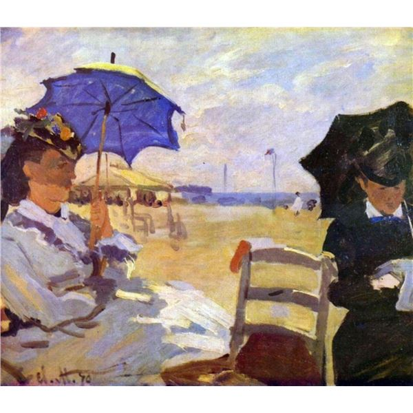 Claude Monet - On the Beach at Trouville