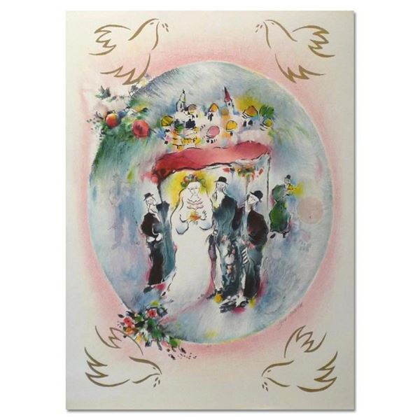 """Ben Avram, """"Houpa"""" Hand Signed Limited Edition Serigraph with Letter of Authenti"""
