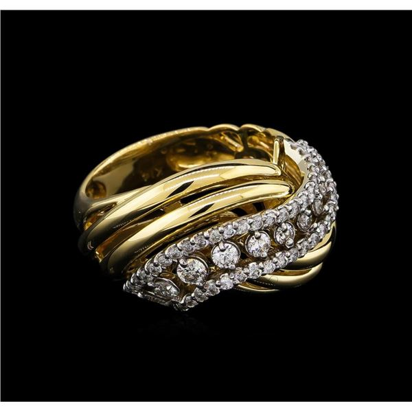 0.73 ctw Diamond Ring - 14KT Two-Tone Gold