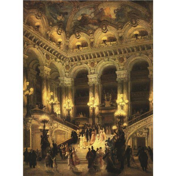 Jean Beraud Lobby Of Paris Opera