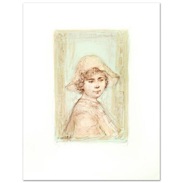 """""""Victoria"""" Limited Edition Lithograph by Edna Hibel (1917-2014), Numbered and Ha"""