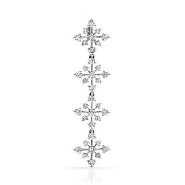 18k White Gold 1.15CTW Diamond Pendant, (SI3/G-H)