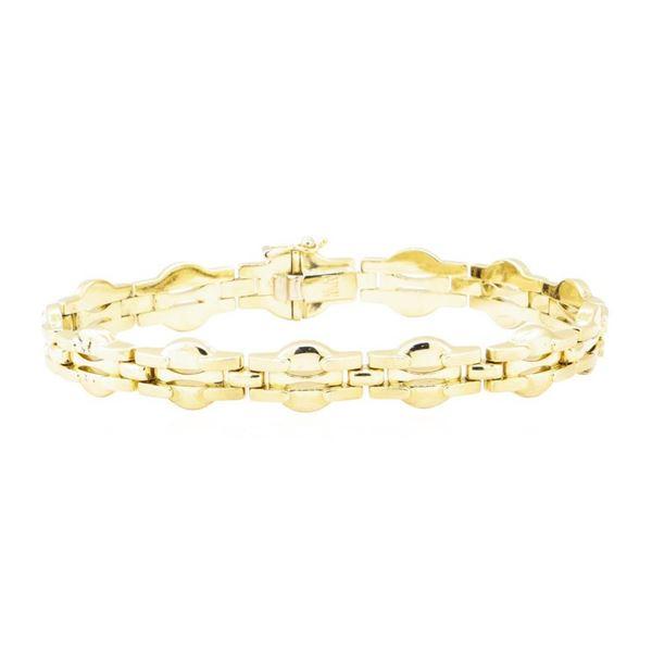 Italian Fancy Link Bracelet - 14KT Yellow Gold