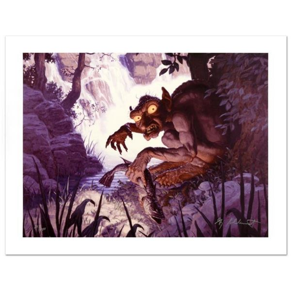 """""""Gollum"""" Limited Edition Giclee on Canvas by The Brothers Hildebrandt. Numbered"""