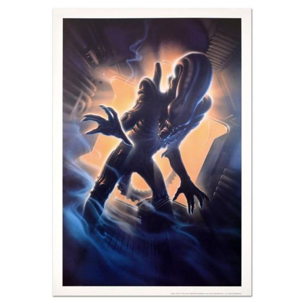 """John Alvin """"Alien"""" Licensed Limited Edition Collectible Lithograph."""