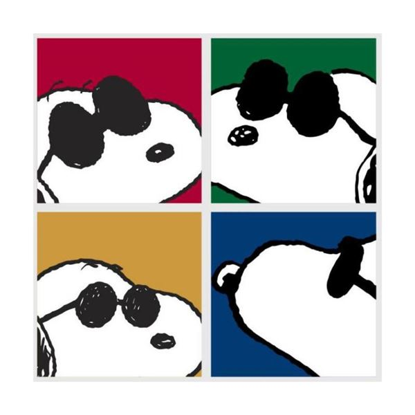 """Peanuts, """"Snoopy: Faces"""" Hand Numbered Canvas (40""""x44"""") Limited Edition Fine Art"""