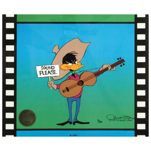 """""""Sound Please"""" by Chuck Jones (1912-2002). Limited Edition Animation Cel with Ha"""