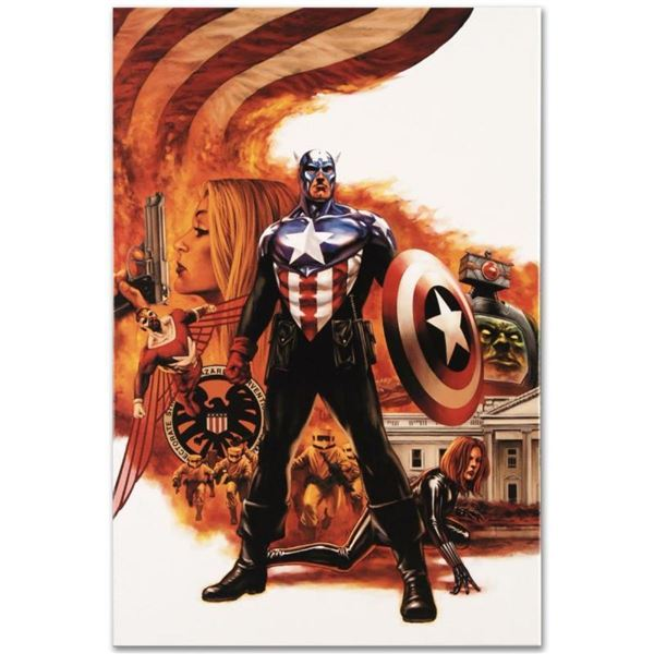 """Marvel Comics """"Captain America #41"""" Numbered Limited Edition Giclee on Canvas by"""