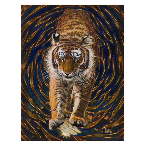 """Vera V. Goncharenko, """"Wild Tiger"""" Hand Signed Limited Edition Giclee on Canvas w"""