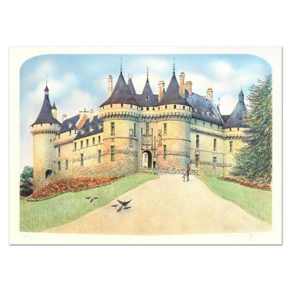 """Rolf Rafflewski, """"Chateau de Chaumont"""" Limited Edition Lithograph, Numbered and"""