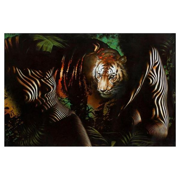 """Vera V. Goncharenko, """"The Ladies with the Tiger"""" Hand Signed Limited Edition Gic"""