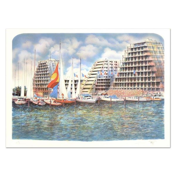 """Rolf Rafflewski, """"Grand Motte"""" Limited Edition Lithograph, Numbered and Hand Sig"""
