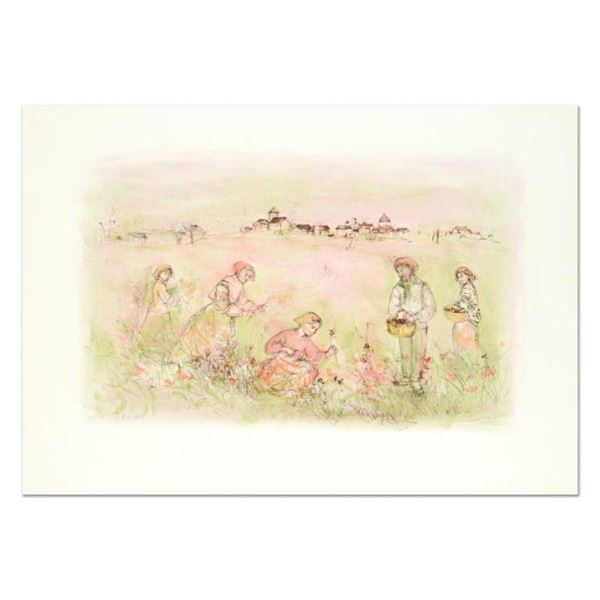 """Edna Hibel (1917-2014), """"Tuscan Fields"""" Limited Edition Lithograph on Rice Paper"""