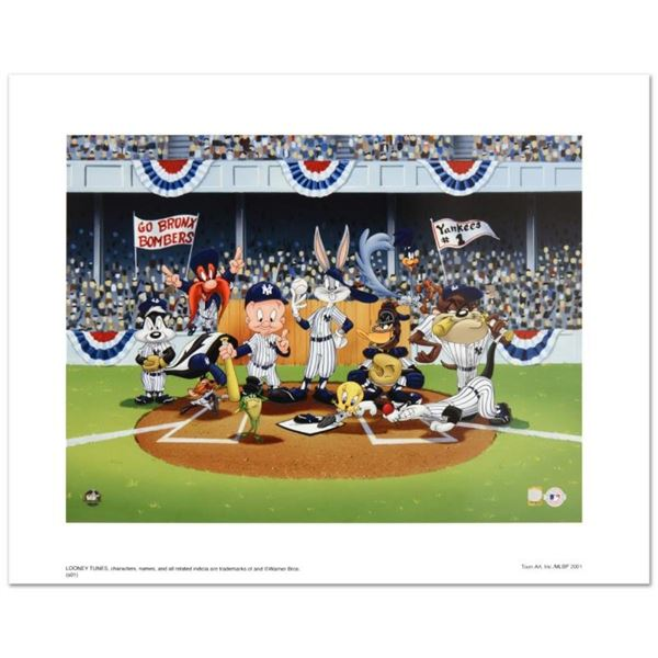 """""""Line Up At The Plate (Yankees)"""" is a Collectible Lithograph from Warner Bros. w"""
