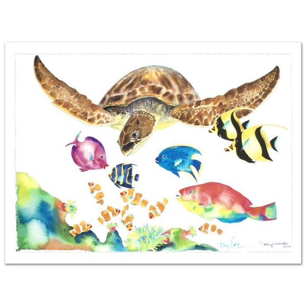 """""""Something Fishee"""" Limited Edition Giclee on Canvas (41"""" x 29.5"""") by Wyland, Num"""