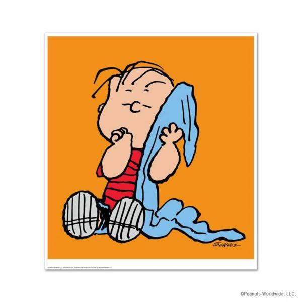 "Peanuts, ""Linus: Orange"" Hand Numbered Limited Edition Fine Art Print with Certi"
