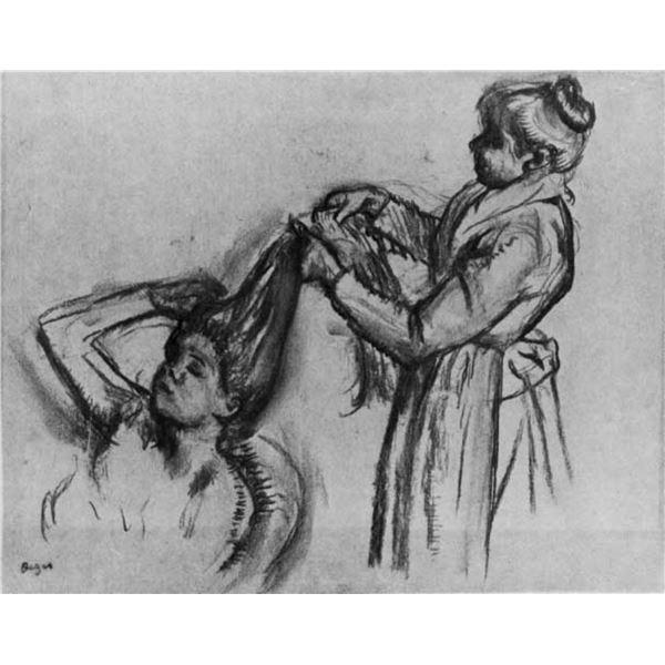 Edgar Degas - Woman Doing Hair [2]