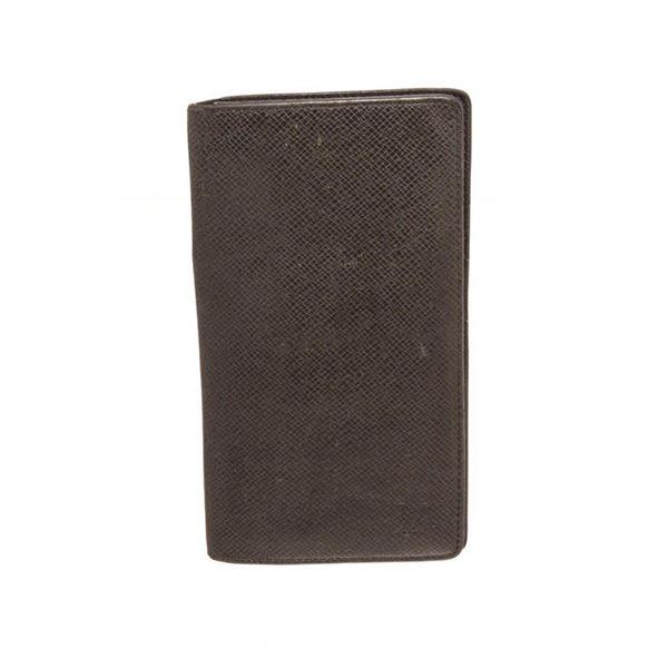 Louis Vuitton Black Taiga Leather Long Card Wallet