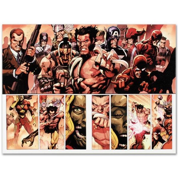 """Marvel Comics """"Secret Invasion #8"""" Numbered Limited Edition Giclee on Canvas by"""