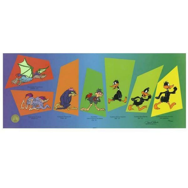 """Chuck Jones """"Evolution Of Daffy"""" Hand Signed, Hand Painted Limited Edition Seric"""