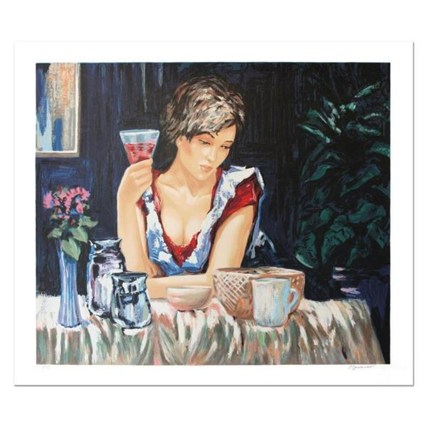 """Sergey Ignatenko, """"Thinking of You """" Hand Signed Limited Edition Serigraph with"""