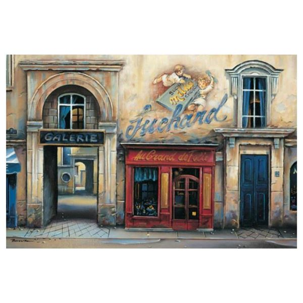 """Alexander Borewko, """"Galerie"""" Hand Signed Limited Edition Giclee on Canvas with L"""