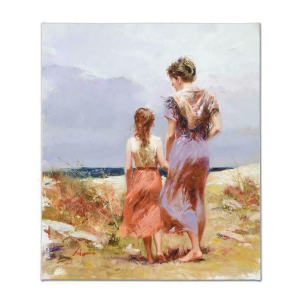 """Pino (1939-2010), """"Summer Afternoon"""" Artist Embellished Limited Edition on Canva"""