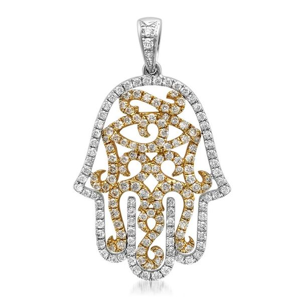 18k Gold 0.87CTW Diamond Pendant, (SI1 /G-H)