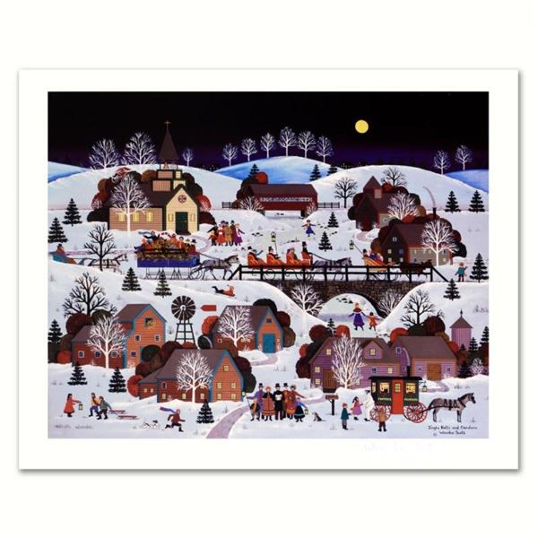 """Jane Wooster Scott, """"Jingle Bells and Carolers"""" Hand Signed Limited Edition Lith"""