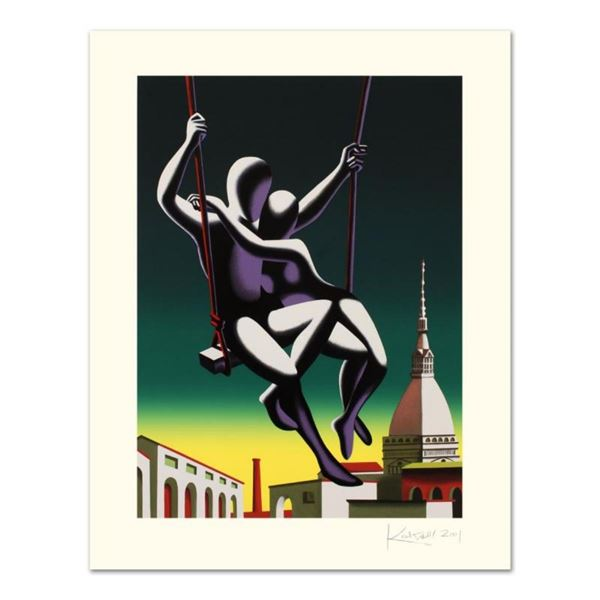 """Mark Kostabi, """"Above The World"""" Limited Edition Serigraph, Numbered and Hand Sig"""